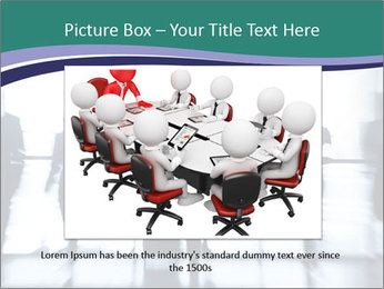 Several silhouettes PowerPoint Template - Slide 16