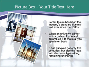 Several silhouettes PowerPoint Template - Slide 17