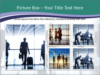Several silhouettes PowerPoint Template - Slide 19