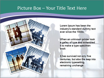Several silhouettes PowerPoint Template - Slide 23