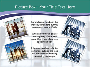 Several silhouettes PowerPoint Template - Slide 24