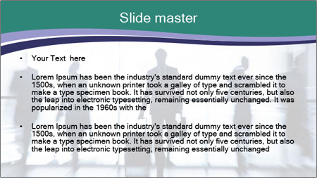 Several silhouettes PowerPoint Template - Slide 2