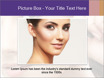 Portrait of happy smiling beautiful young woman PowerPoint Template - Slide 15