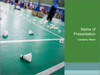 Badminton PowerPoint Templates - Slide 1