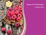 Fresh raspberries PowerPoint Templates