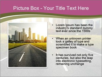 Asphalt road leading to a city PowerPoint Templates - Slide 13