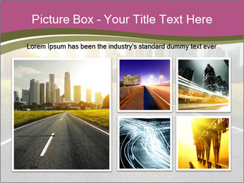 Asphalt road leading to a city PowerPoint Templates - Slide 19