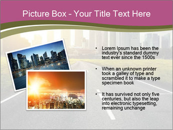 Asphalt road leading to a city PowerPoint Templates - Slide 20