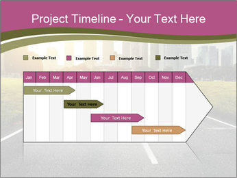 Asphalt road leading to a city PowerPoint Templates - Slide 25