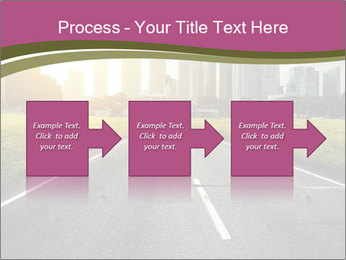 Asphalt road leading to a city PowerPoint Templates - Slide 88