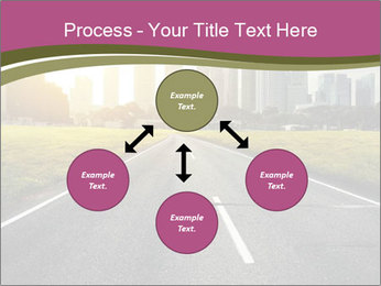 Asphalt road leading to a city PowerPoint Templates - Slide 91