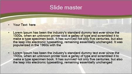Asphalt road leading to a city PowerPoint Template - Slide 2