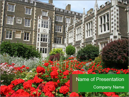 London, Inns of Court PowerPoint Template