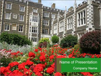 London, Inns of Court PowerPoint Template - Slide 1
