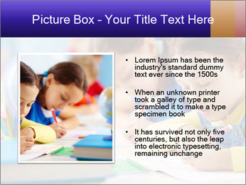 Pupils sitting in a row writing a test PowerPoint Templates - Slide 13