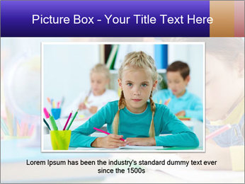 Pupils sitting in a row writing a test PowerPoint Templates - Slide 16