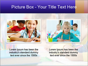 Pupils sitting in a row writing a test PowerPoint Templates - Slide 18