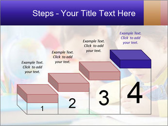 Pupils sitting in a row writing a test PowerPoint Templates - Slide 64