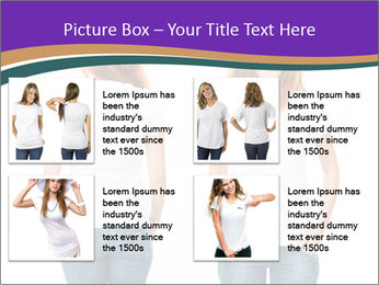 White t-shirt on a smiling girl PowerPoint Template - Slide 14
