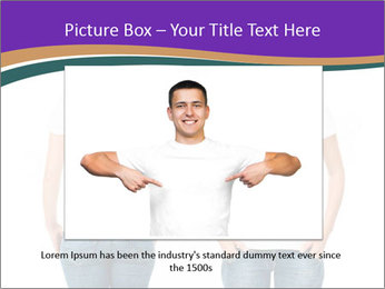 White t-shirt on a smiling girl PowerPoint Template - Slide 15