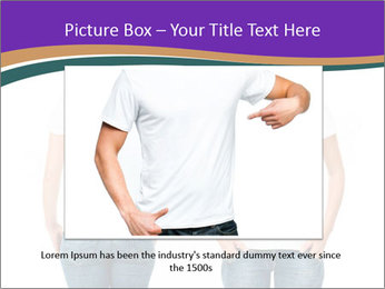 White t-shirt on a smiling girl PowerPoint Templates - Slide 16