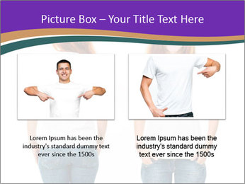 White t-shirt on a smiling girl PowerPoint Template - Slide 18