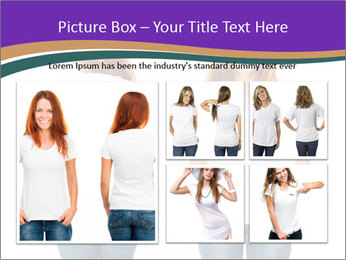White t-shirt on a smiling girl PowerPoint Templates - Slide 19