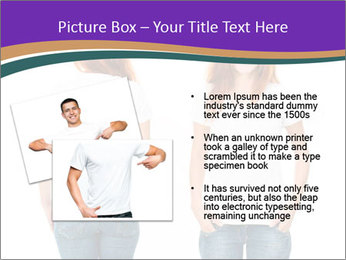 White t-shirt on a smiling girl PowerPoint Template - Slide 20