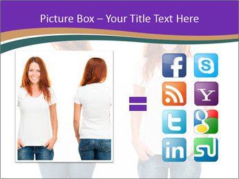 White t-shirt on a smiling girl PowerPoint Template - Slide 21