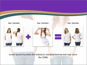 White t-shirt on a smiling girl PowerPoint Template - Slide 22