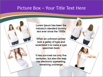 White t-shirt on a smiling girl PowerPoint Template - Slide 24
