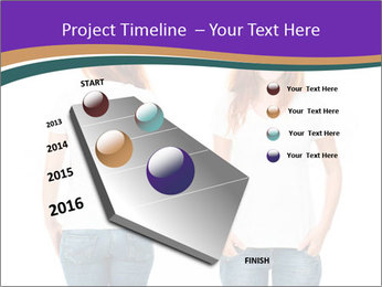 White t-shirt on a smiling girl PowerPoint Template - Slide 26