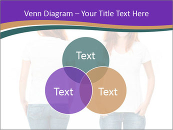 White t-shirt on a smiling girl PowerPoint Template - Slide 33