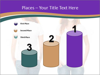 White t-shirt on a smiling girl PowerPoint Template - Slide 65