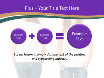 White t-shirt on a smiling girl PowerPoint Template - Slide 75