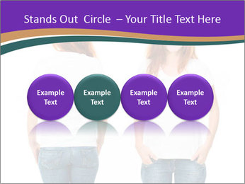 White t-shirt on a smiling girl PowerPoint Template - Slide 76