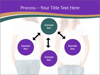 White t-shirt on a smiling girl PowerPoint Template - Slide 91
