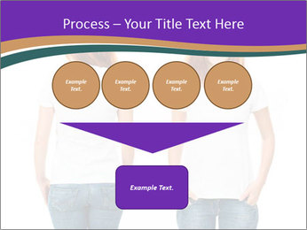White t-shirt on a smiling girl PowerPoint Template - Slide 93