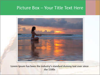 Beautiful young woman looking PowerPoint Templates - Slide 16