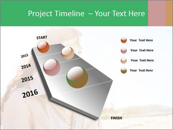 Beautiful young woman looking PowerPoint Templates - Slide 26