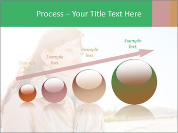 Beautiful young woman looking PowerPoint Templates - Slide 87