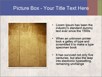 Vintage picture frame on wooden wall PowerPoint Template - Slide 13