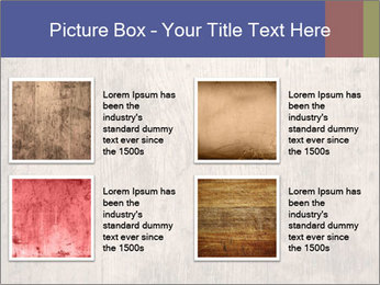 Vintage picture frame on wooden wall PowerPoint Template - Slide 14