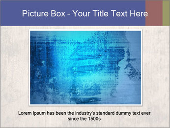 Vintage picture frame on wooden wall PowerPoint Template - Slide 16