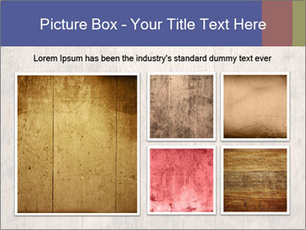 Vintage picture frame on wooden wall PowerPoint Template - Slide 19