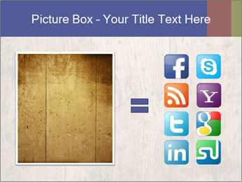 Vintage picture frame on wooden wall PowerPoint Template - Slide 21