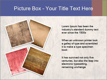 Vintage picture frame on wooden wall PowerPoint Template - Slide 23