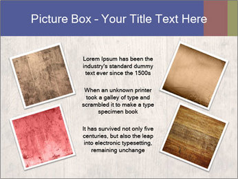 Vintage picture frame on wooden wall PowerPoint Template - Slide 24