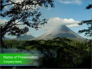 View of the Arenal volcano in Costa Rica PowerPoint Templates