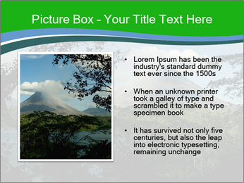 View of the Arenal volcano in Costa Rica PowerPoint Template - Slide 13